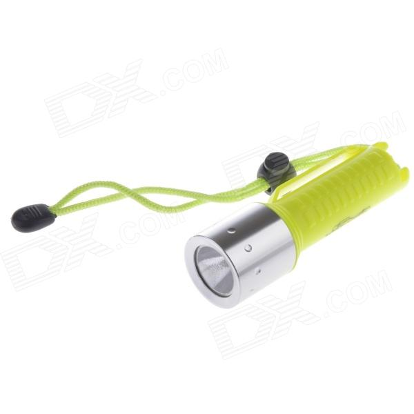 A-JJ8 1-LED 250lm 1-Mode Cold White Diving Flashlight - Fluorescent Green (1 x 18650)