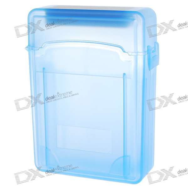 """Protective Plastic Case for 2.5"""" SATA HDDs (Translucent Blue)"""