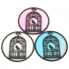 Retro Birdcage Style Silicone Waterproof / Skid Resistant Cup Mat / Coaster - Multicolored (3PCS)