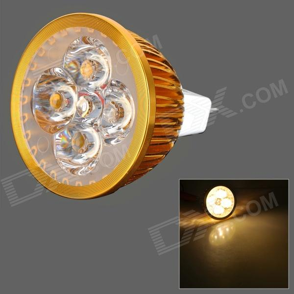 JR-LED MR16 4W 360LM 3300K 4-LED Warm White Light Spotlight - Golden + White (12V)