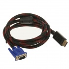 ROCS DisplayPort Male to VGA Male Converter Adapter Cable - Black + Red (170cm)