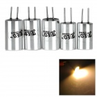 Buy JR-LED G4 2W 100LM 3300K COB LED Warm White Light Aluminum Lamp - Silver + Yellow (12V / 5 PCS)