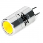 JR-LED G4 2W 100lm 3300K COB LED Warm White Aluminum Lamp (5PCS / 12V)