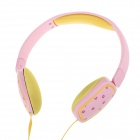 Sibyl X-10 Stylish Headband Headphones - Pink + Yellow (3.5mm Plug / 110cm-Cable)