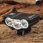 SolarStorm 800lm Cree XM-L T6 3-LED Cool White 4-Mode Bike Headlight - Black (7.4~8.4V)