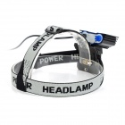 SolarStorm 800lm 3-LED Cold White 4-Mode Bike Headlight - Black (7.4~8.4V)