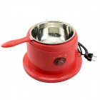 40W Chocolate Melting Pot w/ Tray - Red + Brown (2-Round-Pin Plug / 120V)