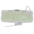 Langut LT200 USB Wired 104-Key Gaming Keyboard + Mouse Set - White
