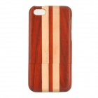 Stylish Protective Joint Wooden Back Case for IPHONE 5C - Red + Yellow