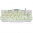 Langtu L2 USB Wired 104-key Gaming Keyboard - White (120cm-Cable)