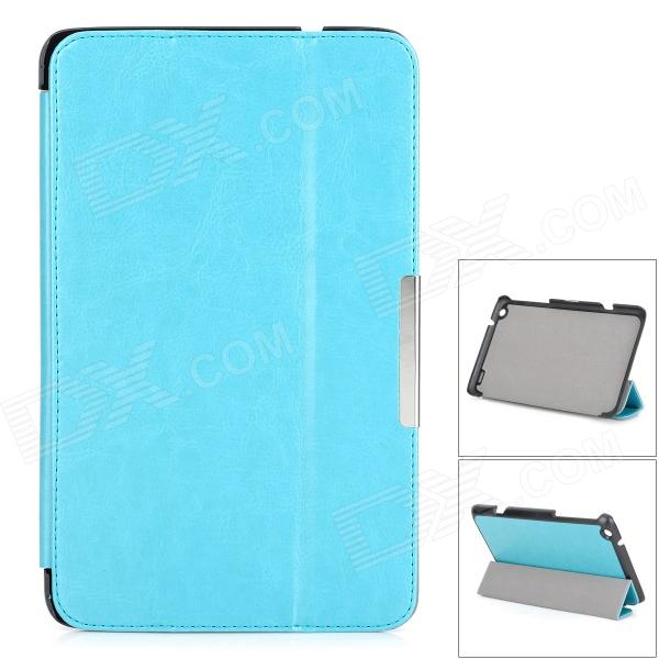 Protective PU Leather Full Body Case w/ Stand / Magnetic Closure for LENOVO MIIX2 8 - Light Blue lychee pattern protective pu case w stand for lenovo miix2 8 dark blue