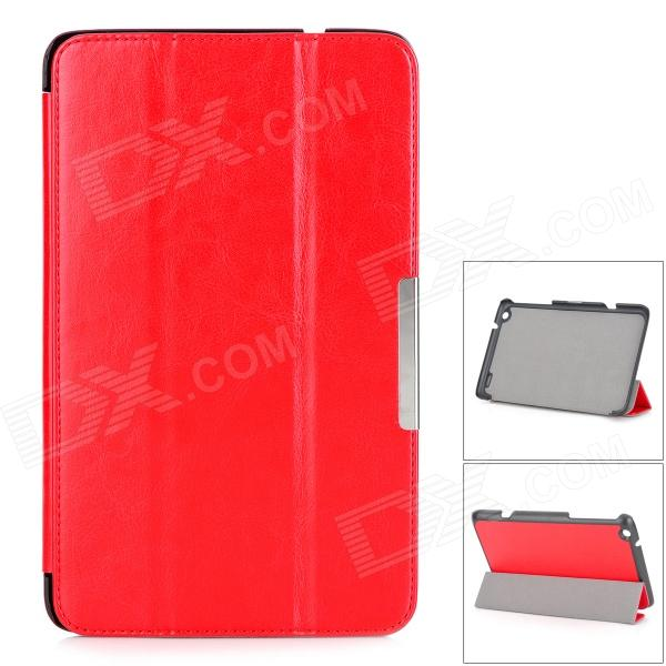 Protective PU Leather Full Body Case w/ Stand / Magnetic Closure for LENOVO MIIX2 8 - Red