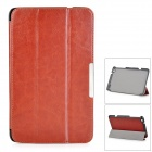 Protective PU Leather Full Body Case w/ Stand / Magnetic Closure for LENOVO MIIX2 8 - Brown