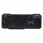 Wfirst X2 USB2.0 Wired 104-key Backlight Game Keyboard - Black