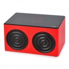 KR-7600 3W Bluetooth V2.1 Touch-Speaker w / Mic. / TF / 3,5 mm - rot + schwarz