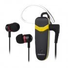 Jabees Victor Universal Bluetooth V3.0 Music Stereo Earphone w/ Mic. - Black + Yellow (48h)