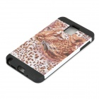 Stylish Leopard Pattern PVC + Silicone Back Case for Samsung Note 3 N9000 - Black Leopard