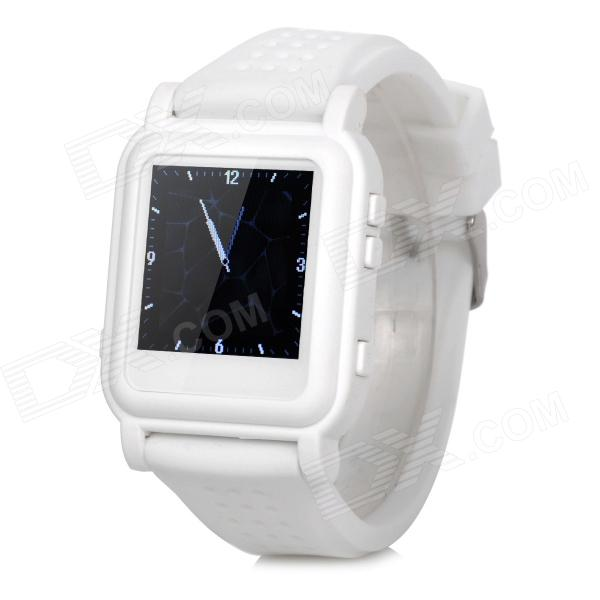 цена на Q998 1.5 TFT Screen MP4 Multimedia Wristwatch - White + Silver (2GB / Li-ion Battery)