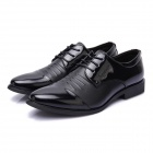 Fashionable Men's Business Style Corium Shoes - Black (EUR Size 42 / Pair)
