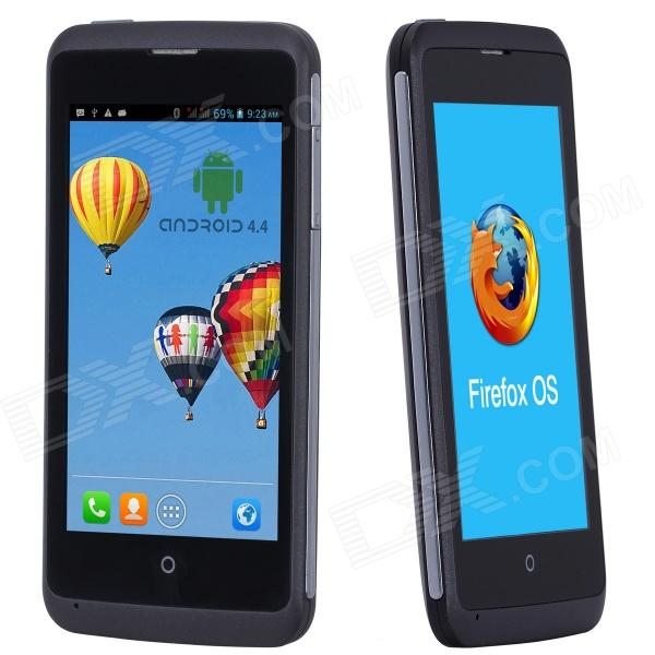 "ZTE åpne C MSM8210 4"" Dual-Core Android 4.4 Firefox 1.3 dobbelt System WCDMA 3G telefon med 4GB ROM"
