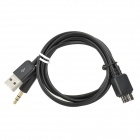 1-to-2 USB Male to 9-pin Micro USB V3.0 Male + 3.5mm Audio Cable for Samsung Note3 N9000 / S5