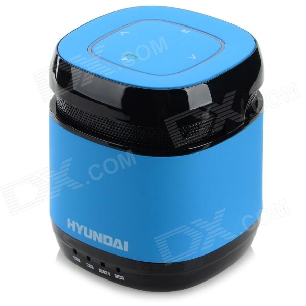 HYUNDAI Bluetooth V3.0 1-CH 3.5mm Speaker w/ FM / TF - Blue portable bluetooth v3 0 speaker w tf fm hands free calls golden red multi colored