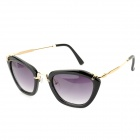 Oulaiou Women's Stylish Retro UV400 Sunglasses - Black + Golden