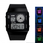 Skmei Men's Waterproof Zinc Alloy LED Wrist Watch w/ Digital Display - Black