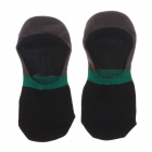 Casual Breathable Pure Cotton Socks for Men - Black + Grey + Green