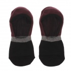 Casual Breathable Pure Cotton Socks for Men - Black + Deep Purple + Grey