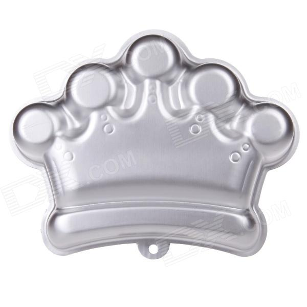 YF3404 Crown Aluminum Cartoon Model DIY Baking Cake Mold - Silver the silver crown