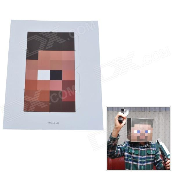 Minecraft Steve HIM 1:1 DIY Handmade Cosplay Wear Paper Mould - Brown