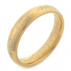 Cool 316L Stainless Steel Ring - Golden (U.S Size 7.5)