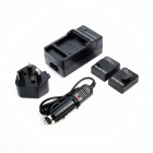 1300mAh Battery + UK Plug Power Adapter + Car Charger for GoPro HD Hero 3 / 3+ - Black