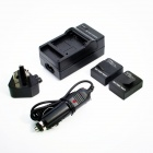 1300mAh Battery + AU Plug Power Adapter + Car Charger for GoPro HD Hero 3 / 3+ - Black