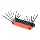 WLXY WL-ZH043 All-in-one Multifunctional Portable Folding Screwdrivers Set - Black + Red
