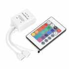 LetterFire 24-key Dimmable Wireless IR Remote Controller for LED Light - White