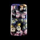 Butterfly Pattern Protective Plastic Back Case for Samsung Galaxy S4 i9500 - Black + Pink
