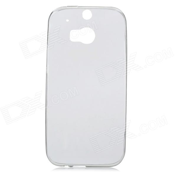 Rock Protective TPU Ultrathin Back Case Cover Shield for HTC ONE 2 M8 - Translucent Black