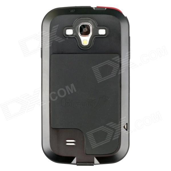 Redpepper Aluminum Alloy Shockproof Dustproof Case for Samsung i9500 - Black