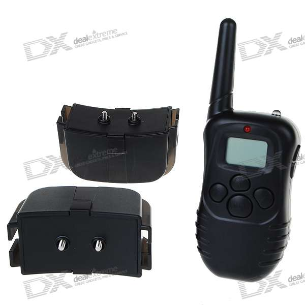 Electronic Shock/Vibrating Dog Collars with 300M RF Wireless LCD Remote (for Two Dogs)