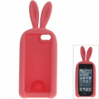 Cute Rabbit Style Protective Silicone Back Case for IPHONE 5 / 5S - Deep Pink