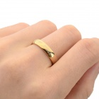 Cool 316L Stainless Steel Ring - Golden (U.S Size 8)