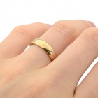 Cool 316L Stainless Steel Ring - Golden (U.S Size 6)