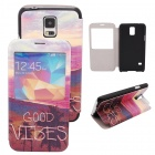 Elonbo The Beautiful Scenery PU Leather Flip Stand Full Body Case for Samsung Galaxy S5
