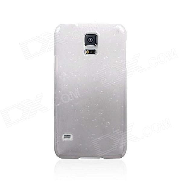 Gradual Change Droplets Protective Plastic Back Case for Samsung Galaxy S5 - White