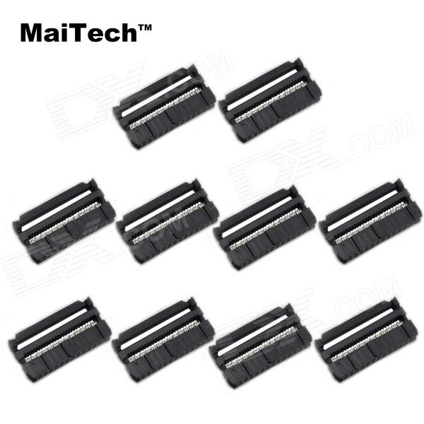 MaiTech 03120336 FC-26P 2.54mm Pitch ISP / JTAG Connectors - Black (10 PCS) maitech 12 x 8mm 63v100uf electrolytic capacitors black 10 pcs