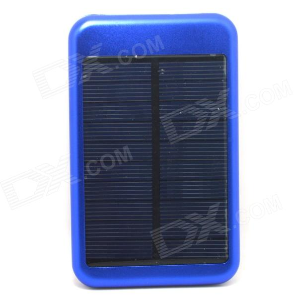 JY-6000T Solar Powered 5000mAh Li-polymer Battery Charger Power Bank for IPHONE / Samsung - Blue jc4w60 foldable 5000mah solar powered external battery power bank white black