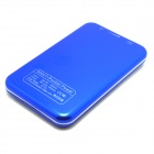 "JY-6000T Solar Powered ""5000mAh"" Li-polymer Battery Charger Power Bank for IPHONE / Samsung - Blue"