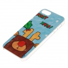 Stylish Little Dear Pattern Protective Plastic Back Case for IPHONE 5 / 5S - Blue
